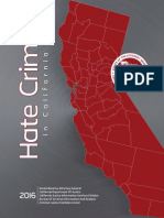 2016 Hate Crime in California Report