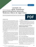 105 Valoración Del Paciente Con Intoxicación Aguda. Tratamiento General Del Paciente Intoxicado. Síndromes Clínicos de Origen Tóxico