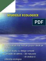 STUDIILE ECOLOGICE