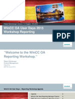 Wincc Oa User Days 2015 Reporting Wincc Oa