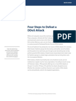 White Paper- Four Steps to Defeat a DDoS Attack