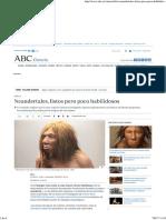 Neandertales, listos pero poco habilidosos.pdf