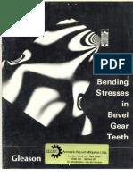Bending Stresses in Bevel Gear Teeth