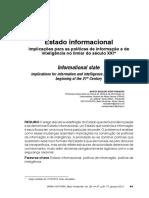 Estado Informacional Implicações Para as Políticas de Informação e de Inteligência No Limiar Do Século XXI