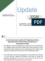 Constitution Amendment Act, 2016 on GST – Amendments Effective 16-9-2016