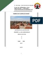 Informe Ladrillos Maxx