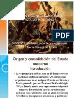 Origen y Consolidación Del Estado Moderno