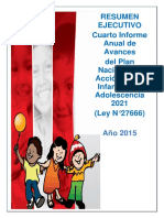 Resumen Ejecutivo IV Informe PNAIA 2015