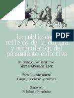 La Publicidad, Reflejos de Cultura y Manipulación Del Pensamiento Colectivo