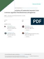 Antibacterial Activity of Lawsonia Inermis Linn He