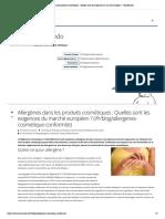 Allergènes dans les produits cosmétique...gences du marché européen ? | EcoMundo