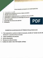 Elementos Estruturação projeto de Dissertação
