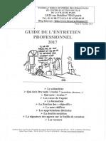 Guide de l'Entretien Professionnel annuel 2017