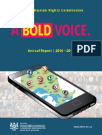 A Bold Voice Annual Report 2016-2017 - Ontario Human Rights Commission