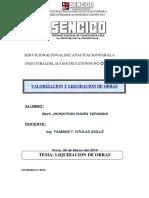 Liquidacion de Obra SENCICO