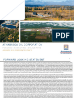 Athabasca Oil Corporation January Update