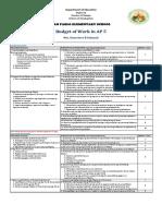 Budget of Work AP5