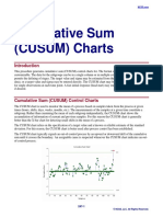 Cusum Charts | Standard Deviation | Normal Distribution