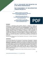 Avaliação e Monitoramento Em Projetos de Recuperação de Áreas Degradadas