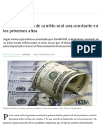 Dolar · Valor Del Dolar Con Relacion Al Peso