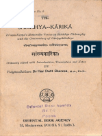 The Samkhya Karika 1933 - Dr. Har Dutt Sharma