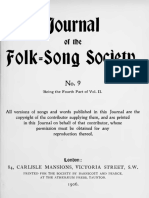Journal of the Folk Song Society No.9
