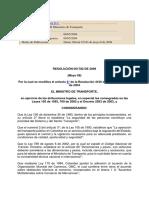 Pesos Máximos Permitidos Resol 1782 de 2009