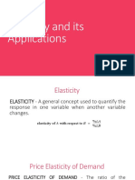 Elasticity and Its Applications