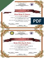 Ok - Grade 6 - Certificate of Achievement