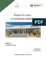 Rapport de Stage  AUTO MESKI