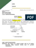 Carta Finiquito Simple