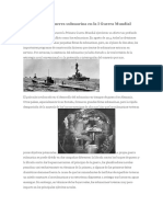 La Acción de La Guerra Submarina en La I Guerra Mundial