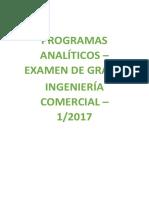 Programas Examen de Grado ICO