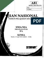 Soal UN Kimia SMA 2012 Paket A81