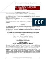 Codigo Penal Del Distrito Federal