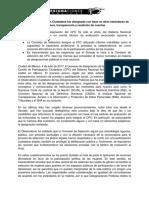 Tablero de evaluación con los puntos que cumplió la Comisión de Selección