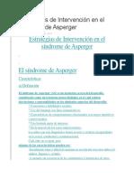 Estrategias de Intervención en El Síndrome de Asperger