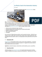 13 High Performance Plastics Used in the Automotive Industry