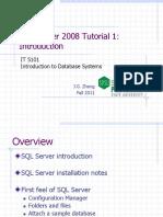 SQL Server 1 Intro