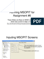 Inputing MSOPIT Screens