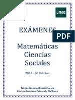Exámenes Matemáticas CCSS 2014
