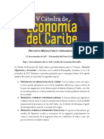 Call for Papers - V Cátedra de Economía Del Caribe