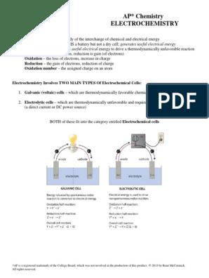 17 Electrochemistry with answers pdf   Electrochemistry   Redox