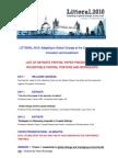 LITTORAL 2010 Programme