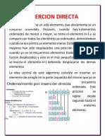 4.1- Ordenación Por Inserción Directa