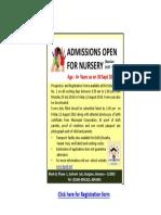 DSP Sushant Lok Nursery Notificaiton 2017-18