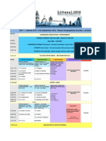 LITTORAL 2010 Timetable