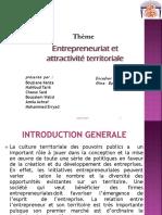 Entrepreneuriat Et Atrractivité Territoriale PPT