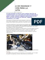 11 Tareas de Engrase y Lubricación Para La Motocicleta