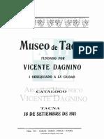 Dagnino, V., Museo de Tacna 1911